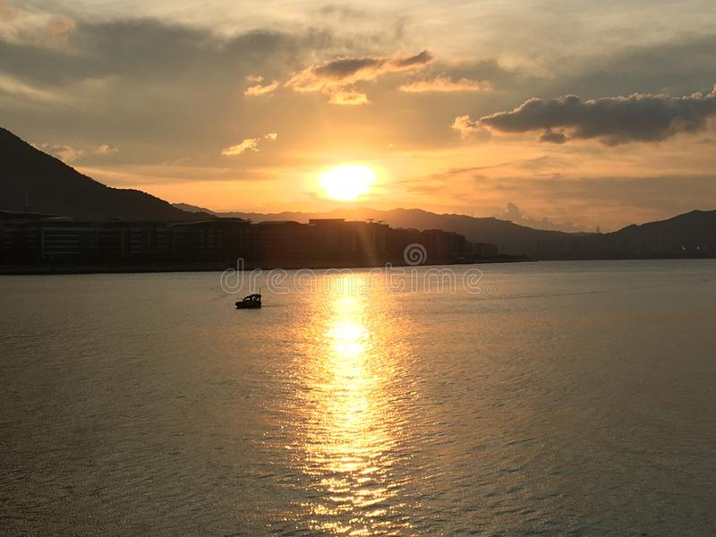 Bello tramonto Bello posto fotografie stock libere da diritti
