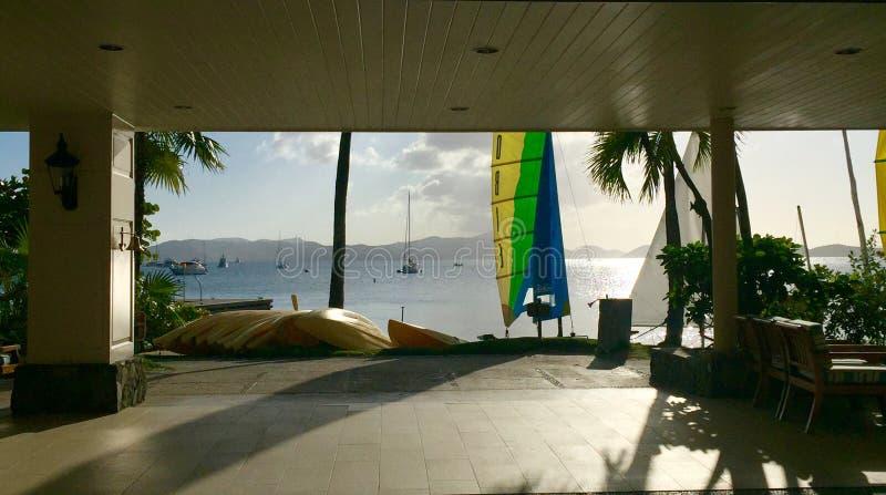 Bello tramonto dell'isola di St Johns immagine stock libera da diritti