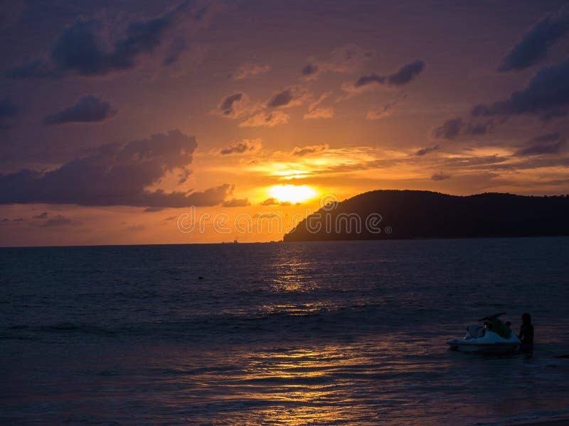 Bello tramonto malese immagine stock