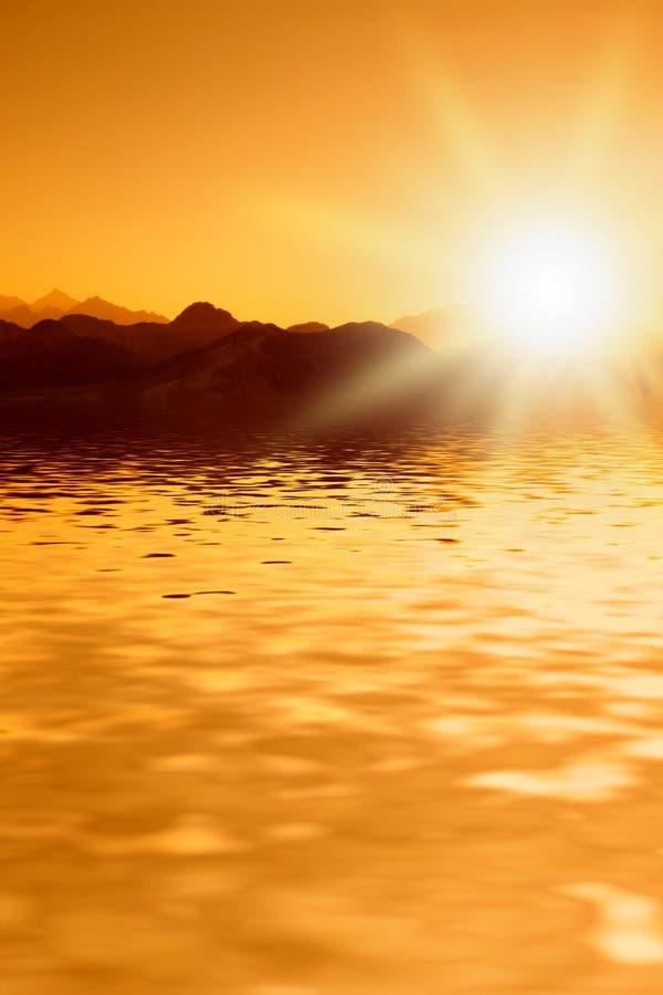 Bello tramonto in montagne immagini stock libere da diritti
