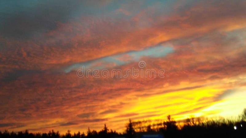 Bello tramonto nordico del Michigan immagini stock