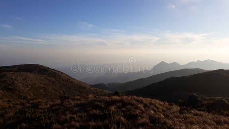 "Bello tramonto Parque Nacional Serra rgãos del DOS a à "" fotografie stock libere da diritti"
