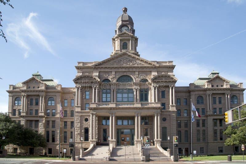 Bello tribunale della contea di Tarrant del monumento storico fotografia stock libera da diritti