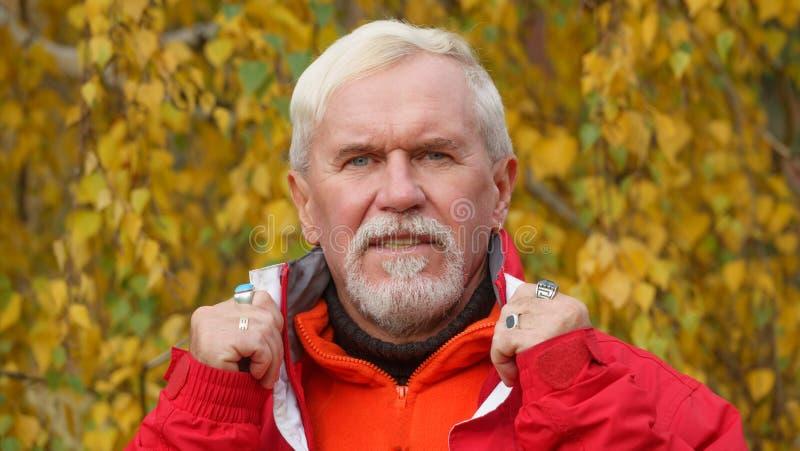 Bello uomo anziano felice immagini stock