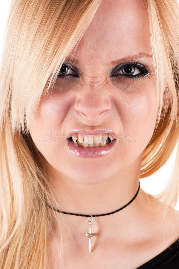 Bello vampiro aggressivo fotografia stock libera da diritti
