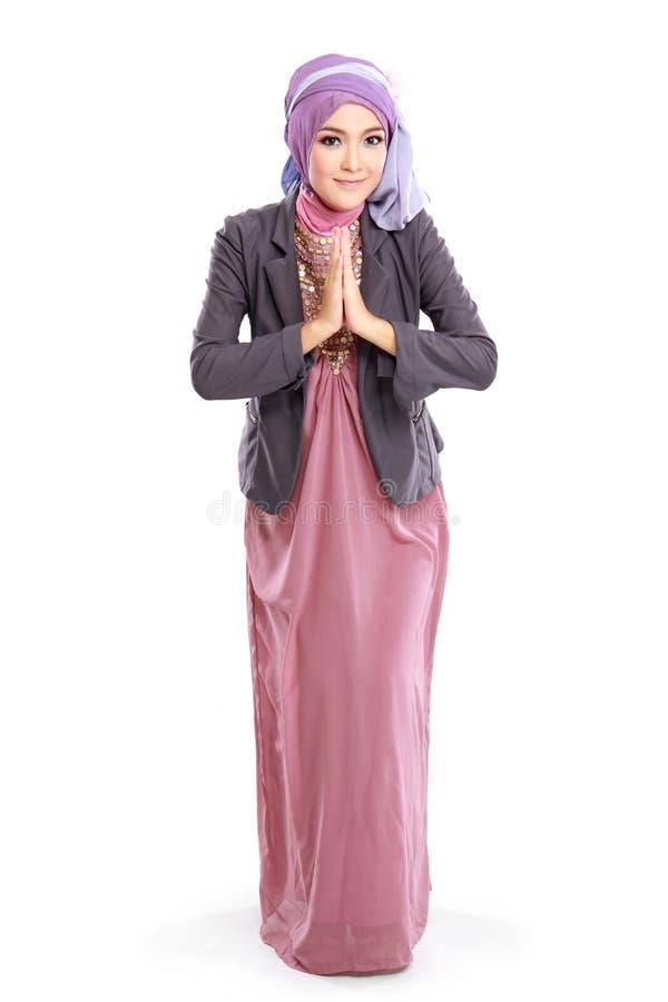 Bello vestito dalla donna fotografia stock libera da diritti