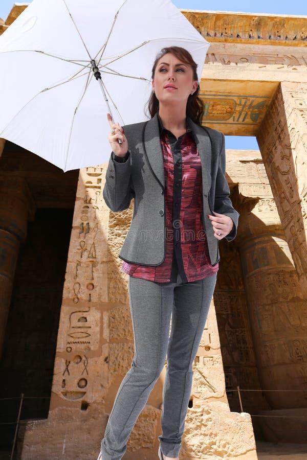Bello viaggiatore - Egitto immagini stock libere da diritti