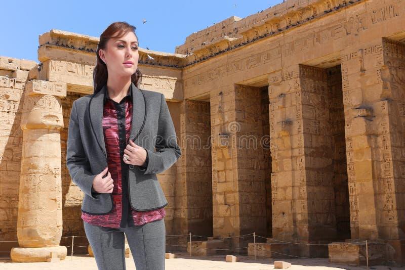 Bello viaggiatore - Egitto immagine stock