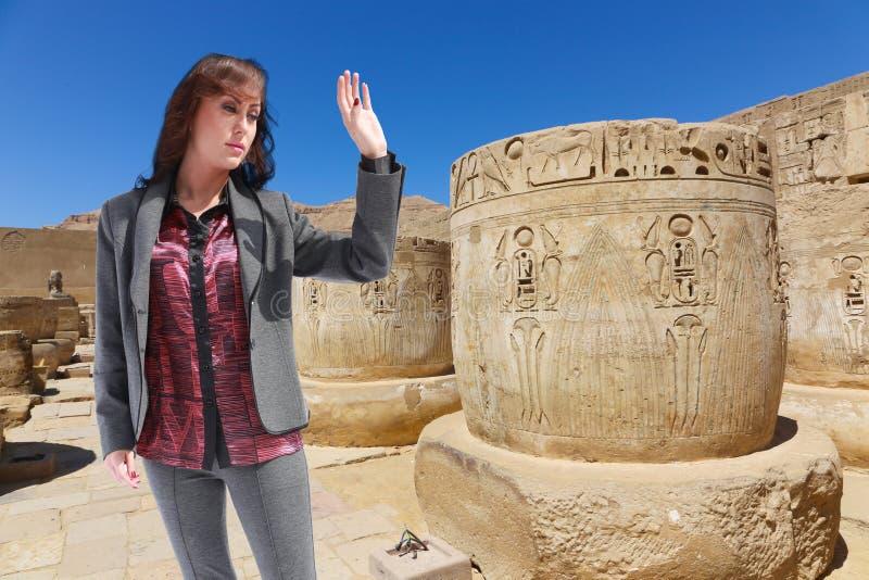 Bello viaggiatore - Egitto fotografie stock libere da diritti
