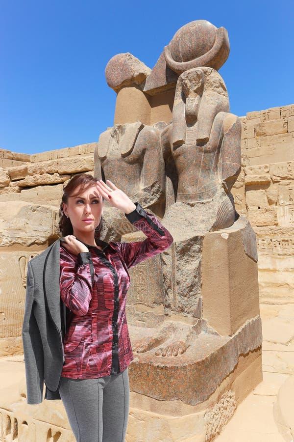 Bello viaggiatore - Egitto immagini stock