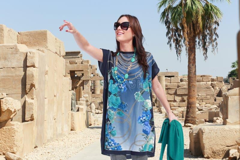 Bello viaggiatore - Egitto fotografia stock libera da diritti
