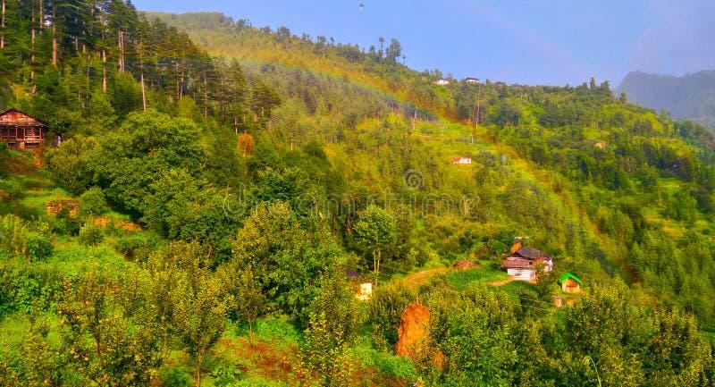 Bello villaggio di himachal fotografie stock