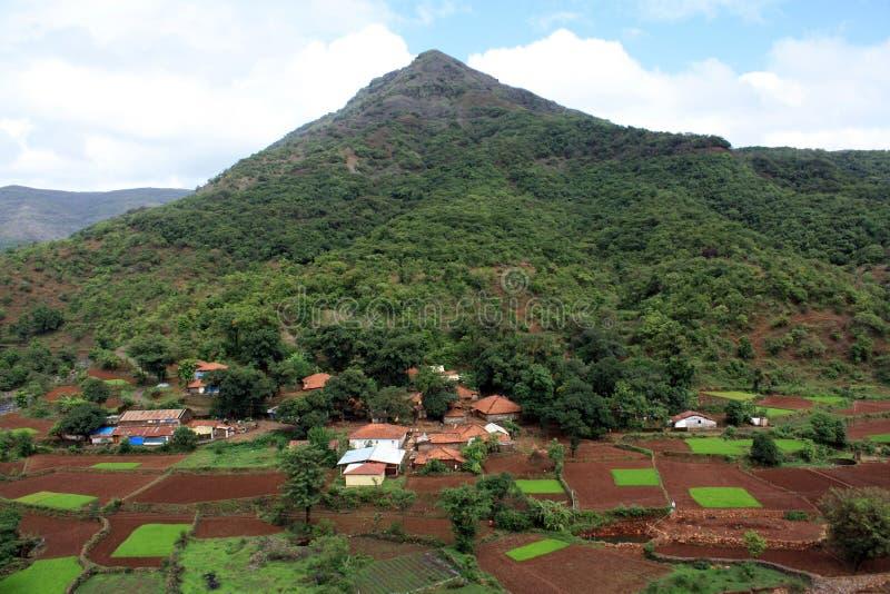 Bello Villaggio Indiano Immagine Stock Libera da Diritti