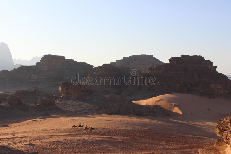 Bello Wadi Rum, Giordania immagine stock libera da diritti