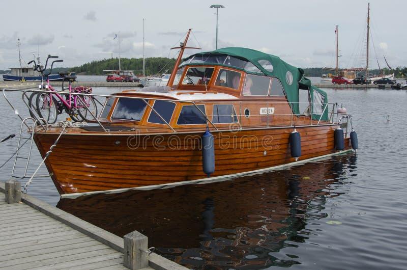 Bello yacht di legno fotografia stock