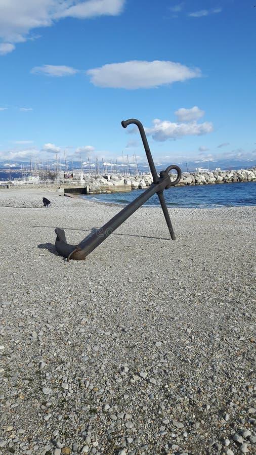 Bellota abandonada en la playa imagen de archivo libre de regalías