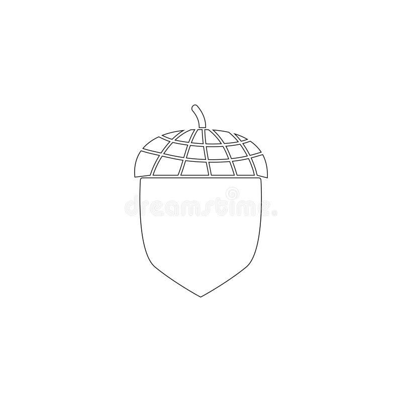 bellota Icono plano del vector libre illustration