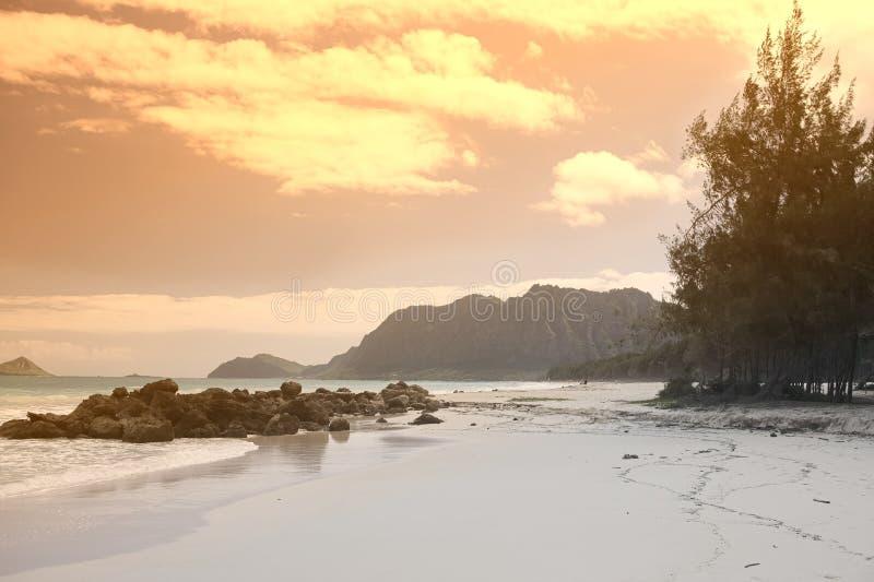 bellows solnedgång fotografering för bildbyråer