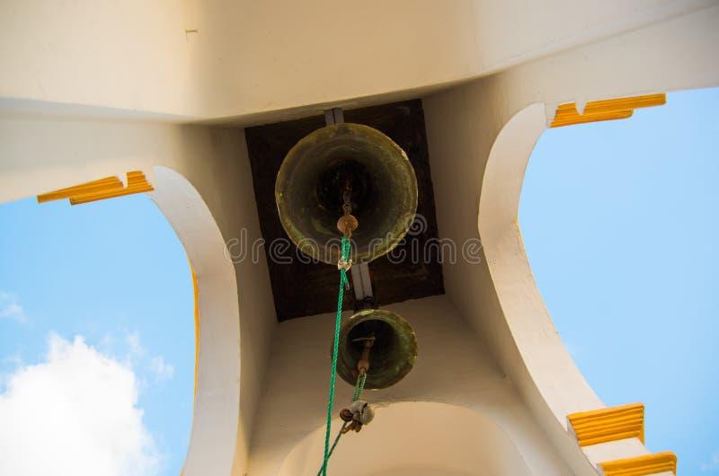 Bells in Basilica of the National Vow, a Roman Catholic church, Quito, Ecuador.  stock image