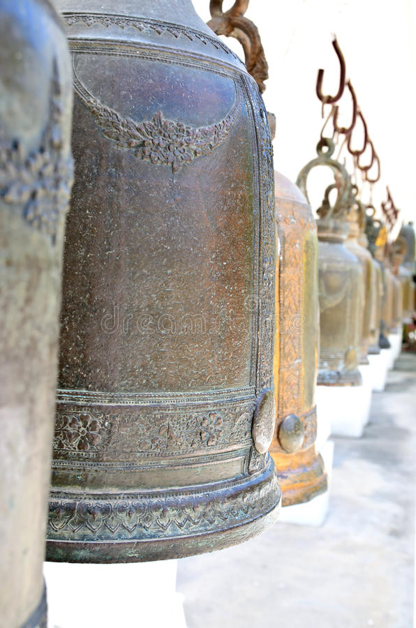 Download Bells in Buddhism temple stock image. Image of oriental - 32051997