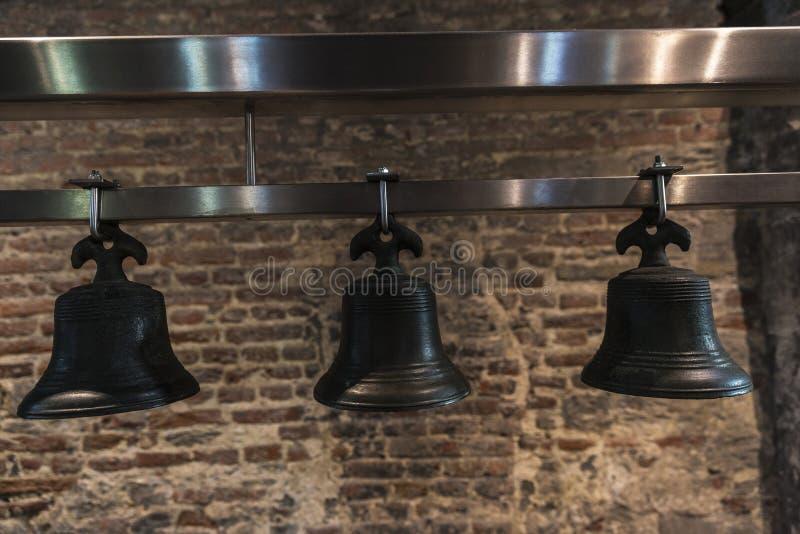 Bells du carillon de tour de cloche à Gand, Belgique photographie stock libre de droits