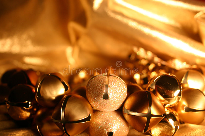 Bells on Gold stock image
