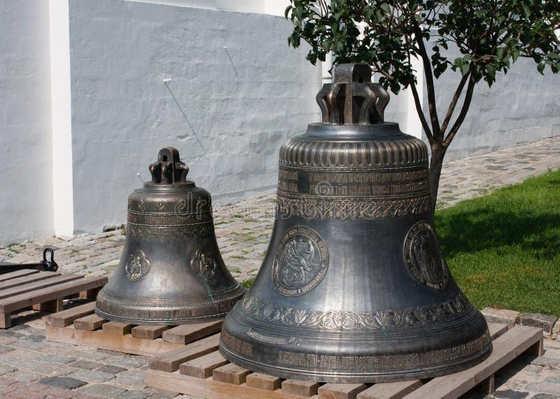Bells. Holy Trinity St. Sergius Lavra. Sergiev Posad. Moscow region royalty free stock photos