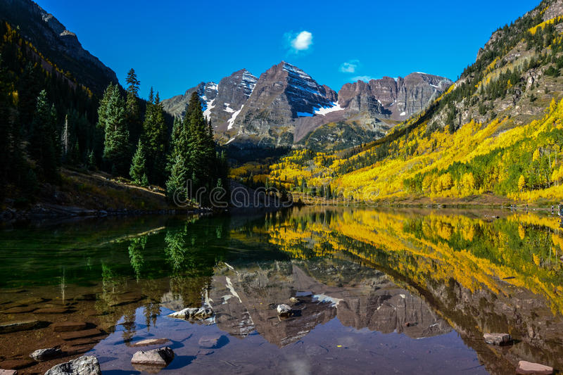 Bells marron, Aspen, le Colorado photo libre de droits