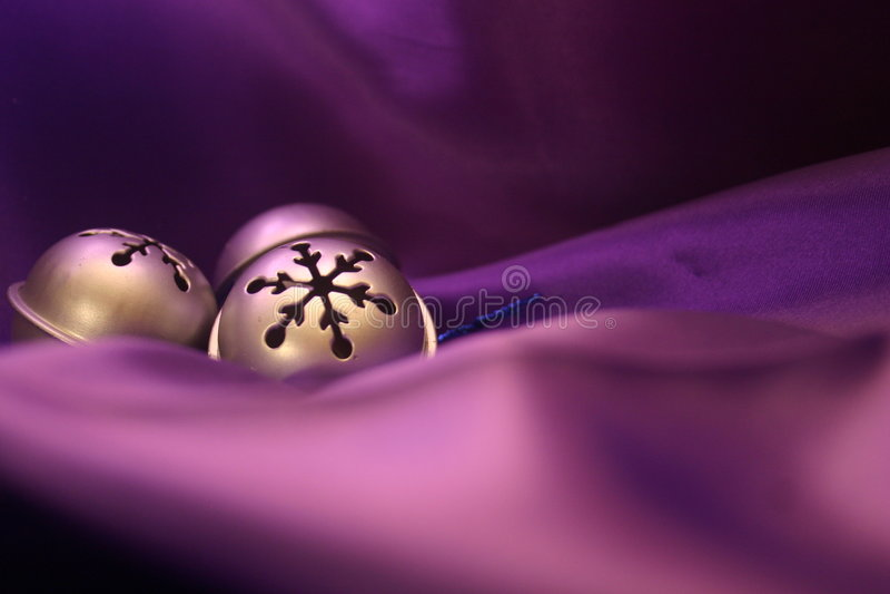 Bells on Purple stock photo