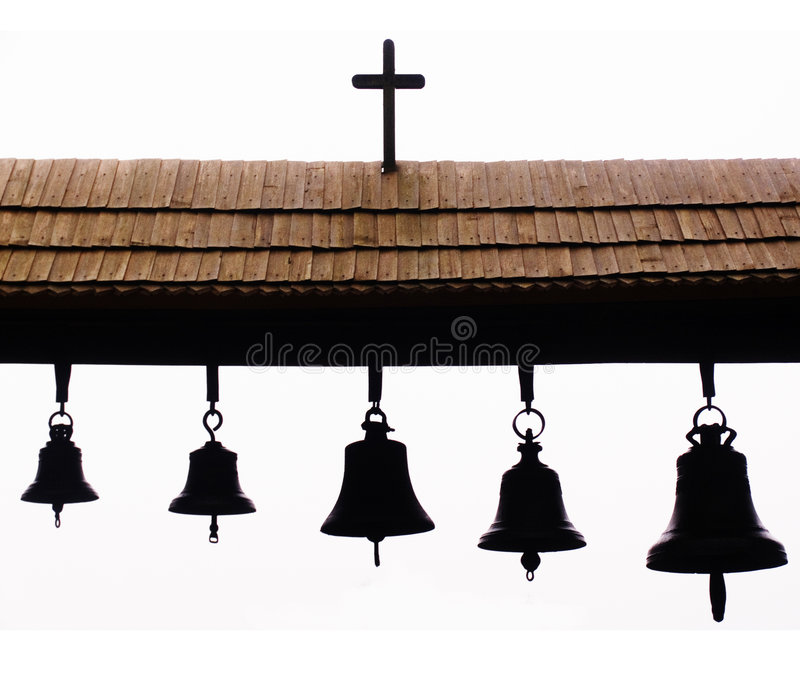 Bells of a rural temple. In a museum of architecture Pirogovo in Kiev(Ukraine stock photos