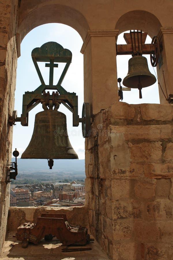 Bells of the Santa Maria church stock image