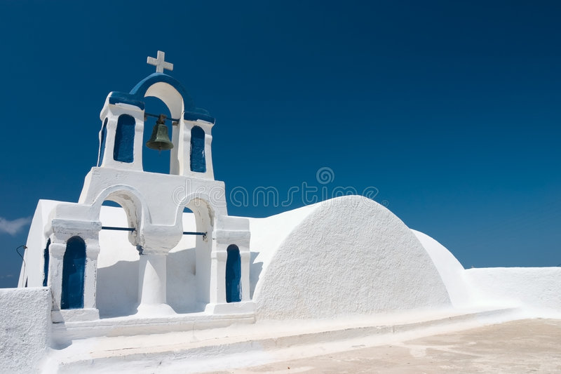 Bells on Santorini stock images
