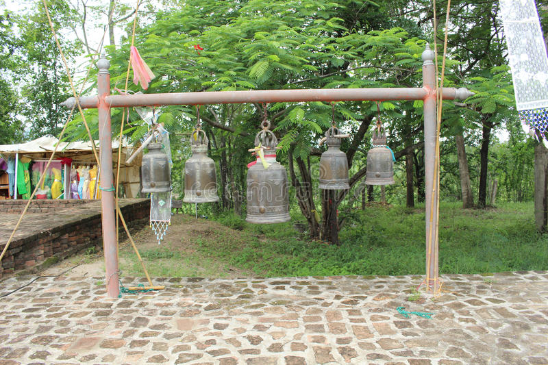 Bells A Tample in Thailand. Bells At a Tample Tak Province in Thailand royalty free stock photo