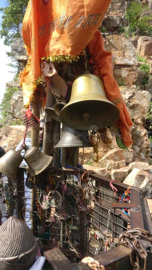 Bells of a Temple. Temple on a mountain Awesome Trek stock photography
