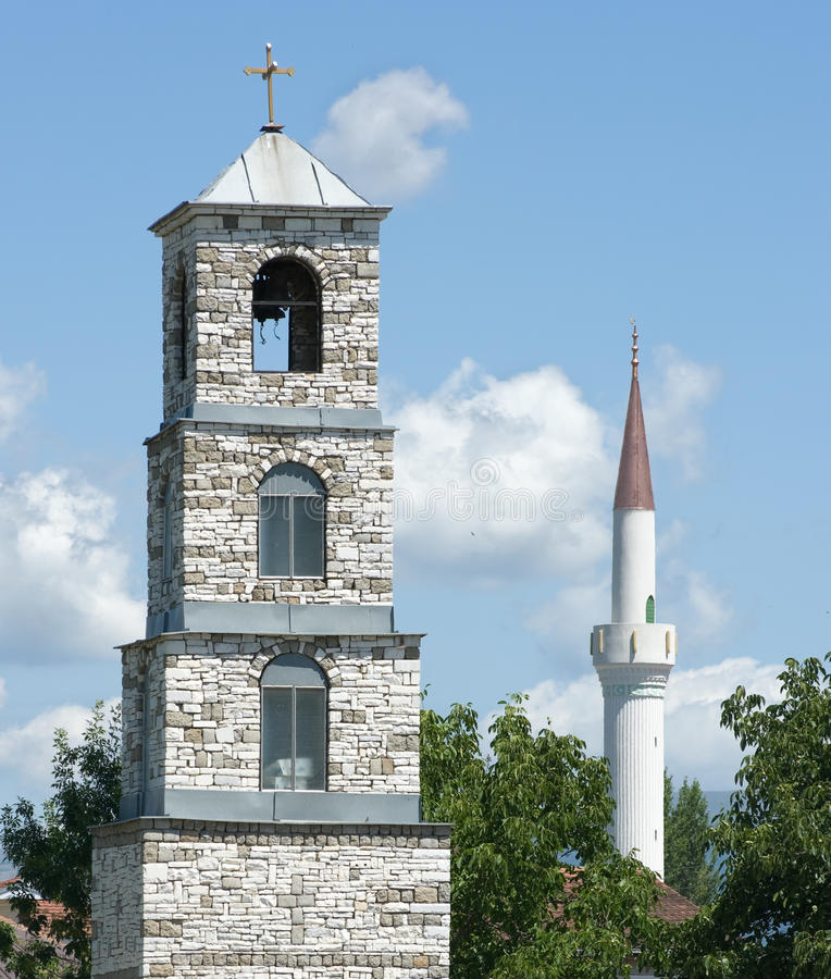 belltower尖塔 免版税图库摄影