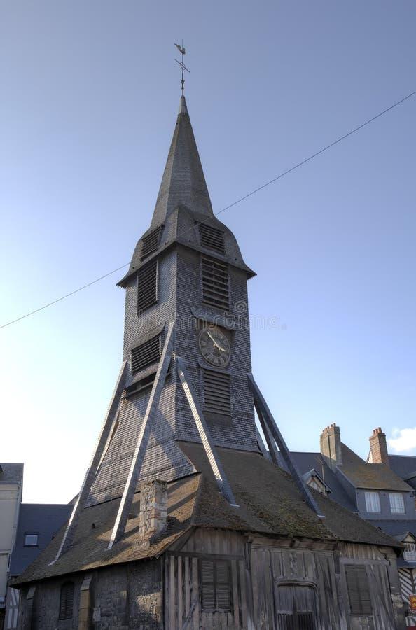 Belltower церков St Катрина honfleur Франции стоковое изображение