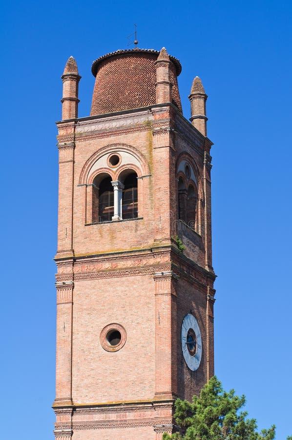 Belltower Basilika der Str.-George von Ferrara. stockbilder