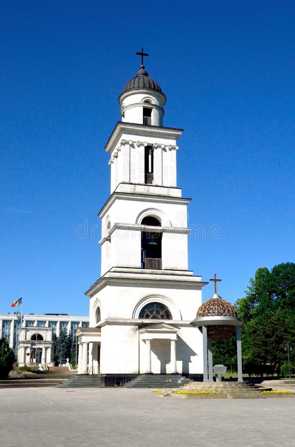 Belltower of the Crist Nativity Cathedral obrazy royalty free