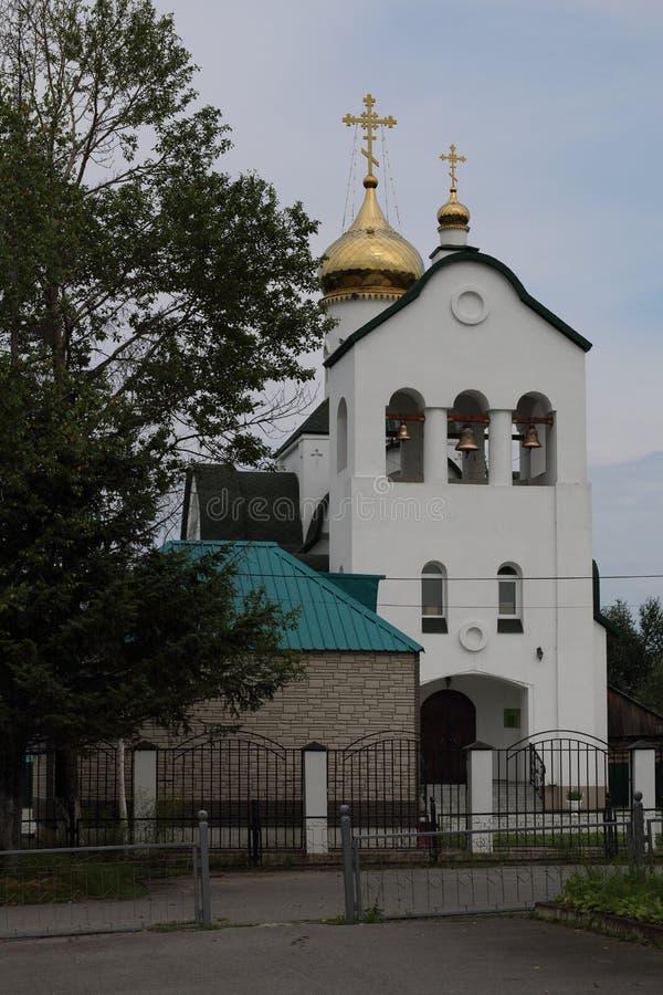 Belltower d'église de Xenia Petersburg photo stock