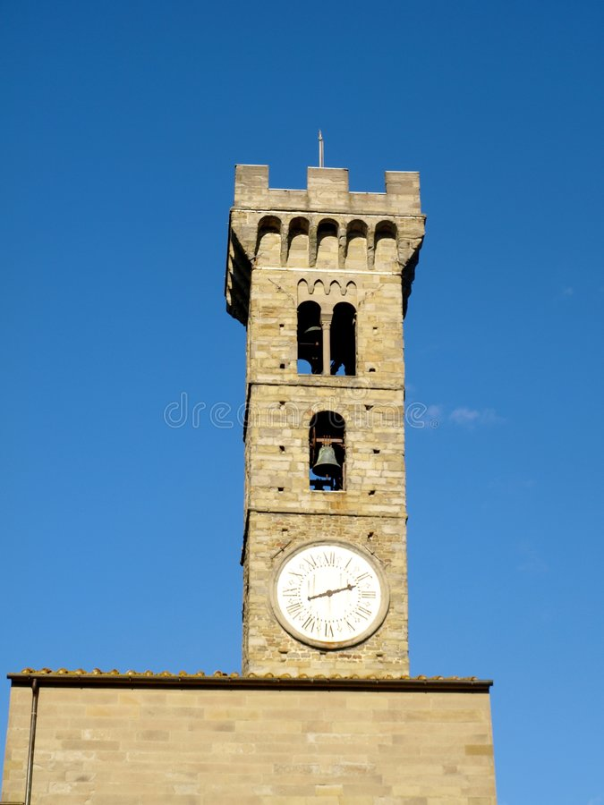 Belltower de Fiesole image libre de droits