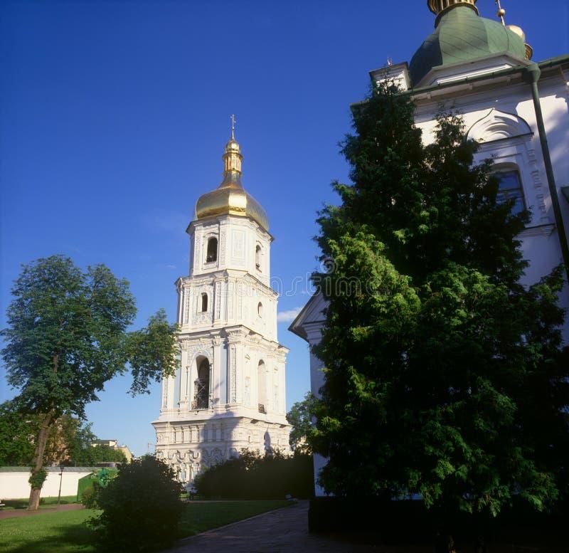 Belltower de la catedral del St. Sophia. Kyiv, Ucrania. foto de archivo libre de regalías