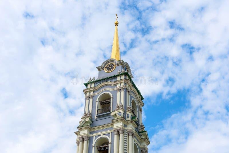 Belltower de la catedral de la suposición de Tula Kremlin Tula, Rusia imagenes de archivo