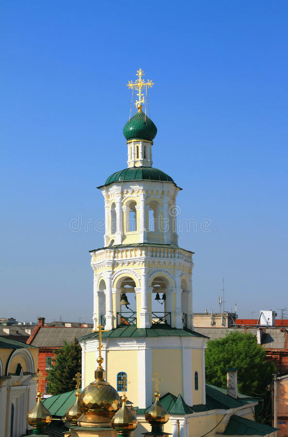 Belltower de la iglesia de Pokrovsk Kazán, Tartaristán, Rusia fotos de archivo