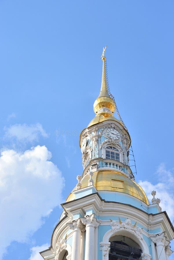 Belltower de St Nicholas Naval Cathedral foto de archivo libre de regalías