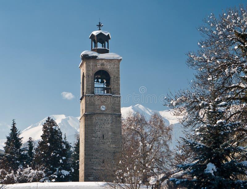 Belltower della chiesa fotografia stock