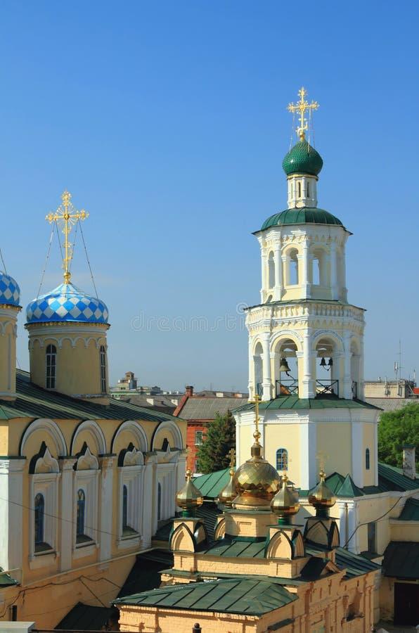 Belltower e iglesia Kazán, Tartaristán, Rusia foto de archivo