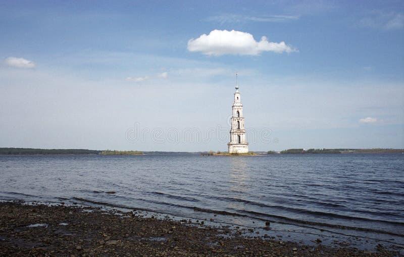 Belltower on island. stock photo