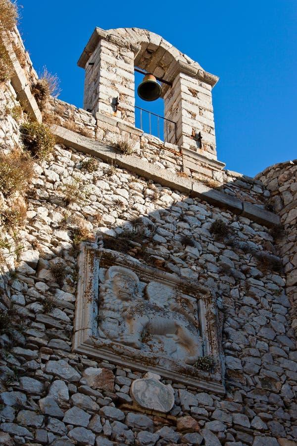 belltower kościół forteca obrazy stock