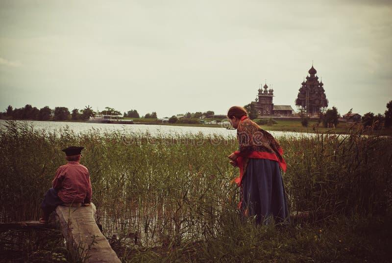 belltower kościelny churchyard wyspy Karelia kizhi preobrazhenskiy obrazy royalty free