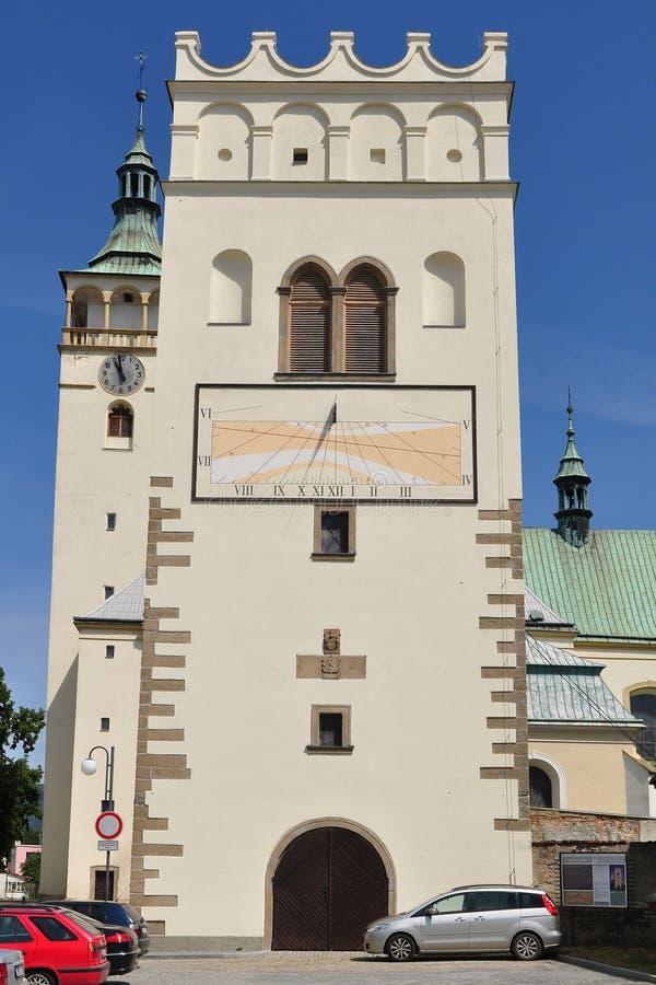 Belltower Lipnik,捷克语 免版税库存照片